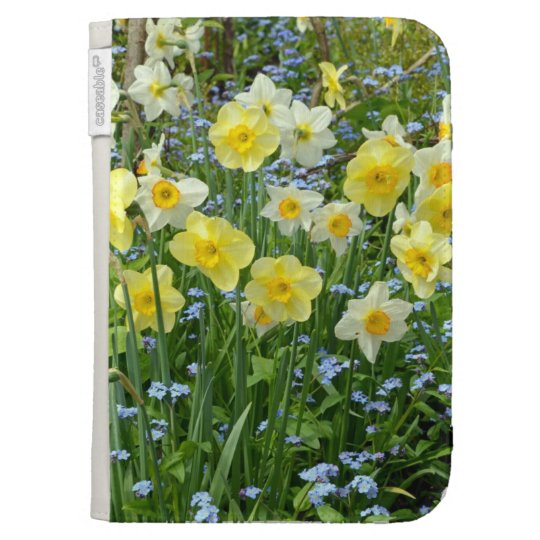 Yellow spring daffodils kindle folio cases for the kindle