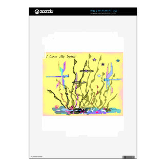 YELLOW SPRING DRAGONFLY SKIN FOR THE iPad 2