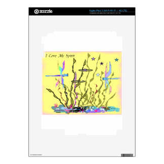 YELLOW SPRING DRAGONFLY SKIN FOR iPad 3