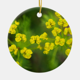 Yellow Spring Flowers Christmas Tree Ornaments