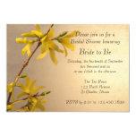 Yellow Spring Forsythia Bridal Shower Invitation