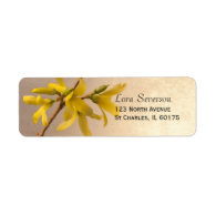 Yellow Spring Forsythia Return Address Label