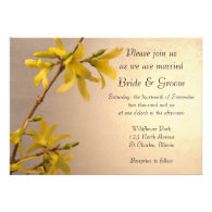 Yellow Spring Forsythia  Wedding Invitation