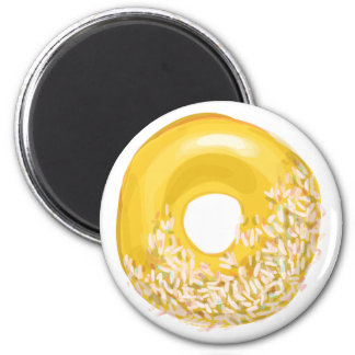 Yellow Sprinkled Doughnut. Magnet