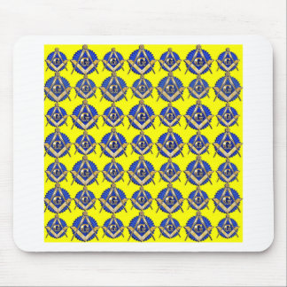 Yellow Square & Compass Mouse Pad
