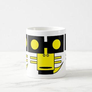 yellow square monster coffee mug