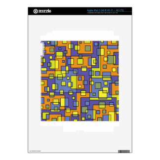 Yellow squares background iPad 3 skins