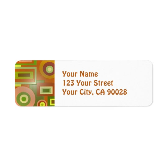 yellow squares circles abstract label
