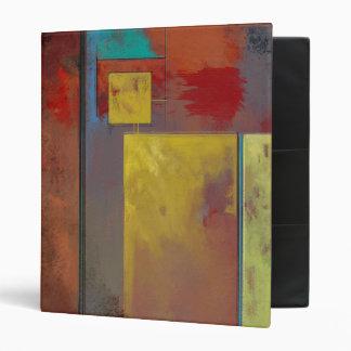 Yellow Squares No. 2 Abstract Art Binder