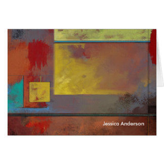 Yellow Squares No. 2 Abstract Painting Cards