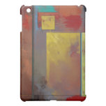 Yellow Squares No. 2 Abstract Painting iPad Case