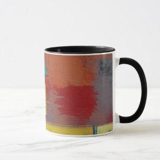 Yellow Squares No. 2 Abstract Painting Mug