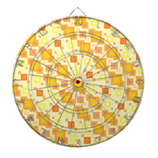 Yellow Squares Pattern Dart Boards