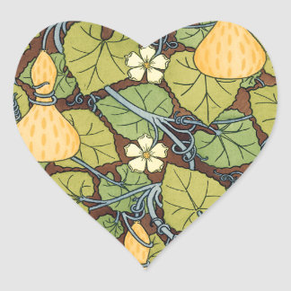 Yellow Squash and Blossoms Heart Sticker