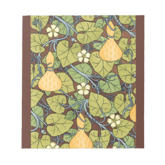 Yellow Squash and Blossoms Notepad