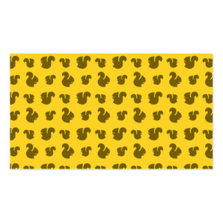 Yellow squirrel pattern Double-Sided standard business cards (Pack of 100)