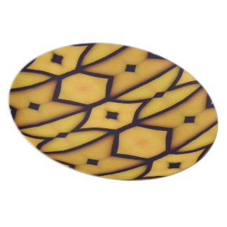 Yellow Stained Glass Plate