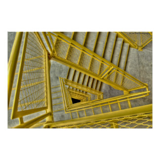 Yellow Stairway Posters