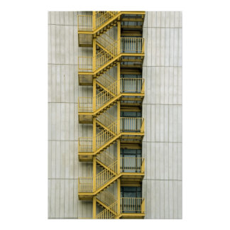 yellow stairways posters