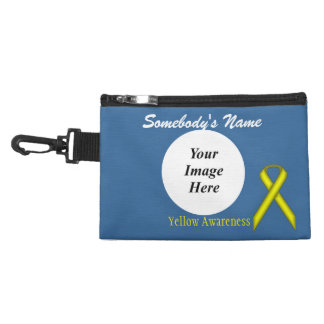 Yellow Standard Ribbon Accessories Bags