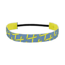 Yellow Standard Ribbon Athletic Headband