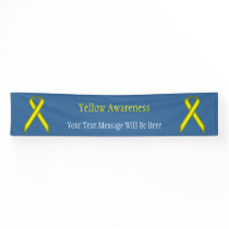 Yellow Standard Ribbon Banner