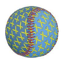 Yellow Standard Ribbon Baseball