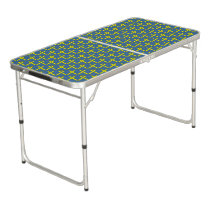 Yellow Standard Ribbon Beer Pong Table