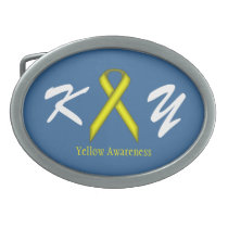 Yellow Standard Ribbon Belt Buckle