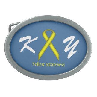 Yellow Standard Ribbon Belt Buckle