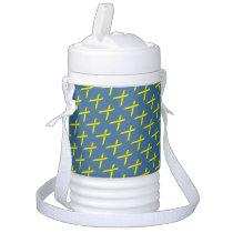 Yellow Standard Ribbon Beverage Cooler