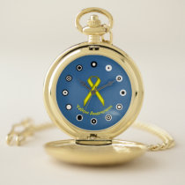 Yellow Standard Ribbon (Bf) by K Yoncich Pocket Watch