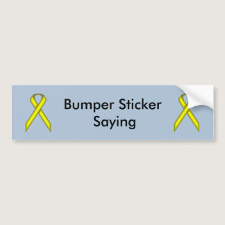Yellow Standard Ribbon Bumper Sticker