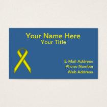 Yellow Standard Ribbon Business Card