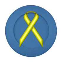 Yellow Standard Ribbon Button Covers