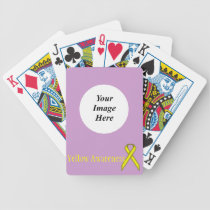 Yellow Standard Ribbon by Kenneth Yoncich Bicycle Playing Cards