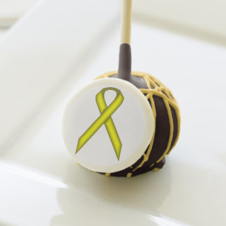 Yellow Standard Ribbon by Kenneth Yoncich Cake Pops