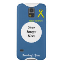 Yellow Standard Ribbon by Kenneth Yoncich Case For Galaxy S5