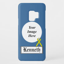 Yellow Standard Ribbon by Kenneth Yoncich Case-Mate Samsung Galaxy S9 Case