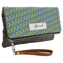 Yellow Standard Ribbon by Kenneth Yoncich Clutch