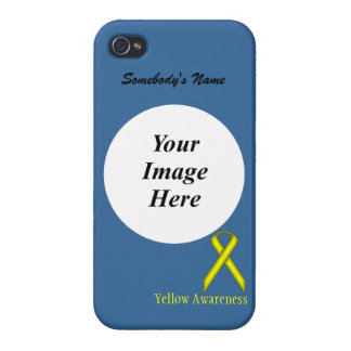 Yellow Standard Ribbon by Kenneth Yoncich Cover For iPhone 4