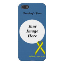 Yellow Standard Ribbon by Kenneth Yoncich Cover For iPhone SE/5/5s