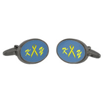 Yellow Standard Ribbon by Kenneth Yoncich Cufflinks