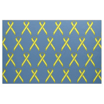 Yellow Standard Ribbon by Kenneth Yoncich Fabric