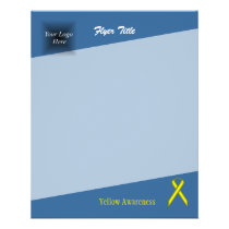 Yellow Standard Ribbon by Kenneth Yoncich Flyer