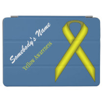 Yellow Standard Ribbon by Kenneth Yoncich iPad Air Cover