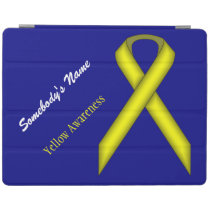 Yellow Standard Ribbon by Kenneth Yoncich iPad Smart Cover