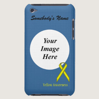 Yellow Standard Ribbon by Kenneth Yoncich iPod Touch Cover