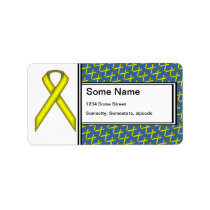 Yellow Standard Ribbon by Kenneth Yoncich Label