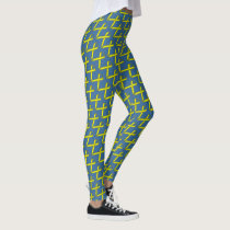 Yellow Standard Ribbon by Kenneth Yoncich Leggings